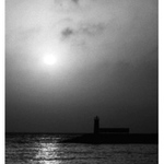 turkish lighthouse in b/w